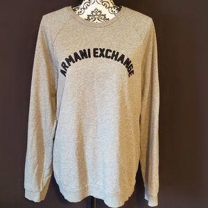 Armani Exchange gray sweatshirt size Large